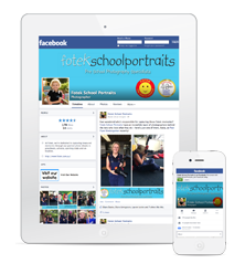 Fotek School Portrait's Facebook page on Mobile and Tablet